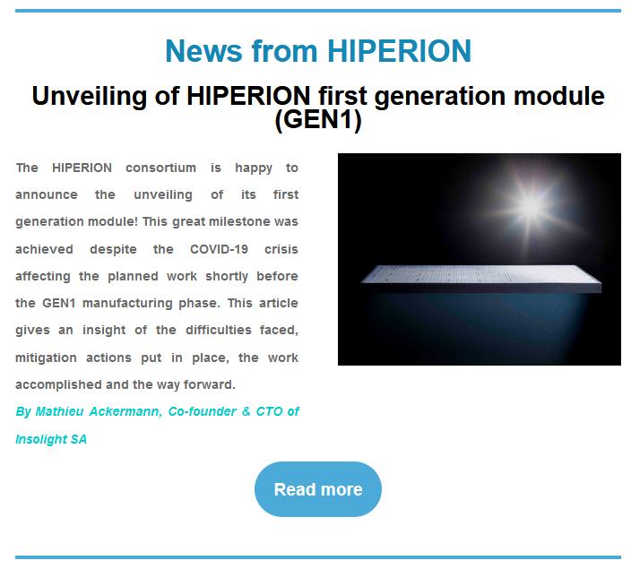 Unveiling of GEN1 module