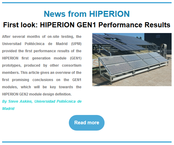 HIPERION Newsletter n°3 / May 2021